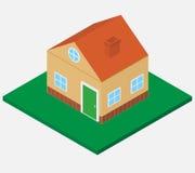 Isometrisches Haus Lizenzfreie Stockbilder