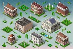 Isometrisches historisches amerikanisches Gebäude Stockfoto