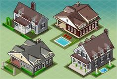 Isometrisches historisches amerikanisches Gebäude vektor abbildung