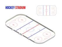 Isometrisches hokkey Stadion Lizenzfreie Abbildung