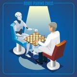 Isometrisches künstliche Intelligenz-Technologie-Konzept stock abbildung
