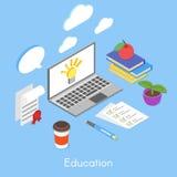 Isometrisches Konzept des Vektors für Bildung Stockbild