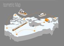 Isometrisches Konzept Karten-Kanadas Lizenzfreies Stockbild