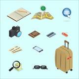 Isometrisches Konzeptdesign der Reiseikone Lizenzfreie Stockfotografie