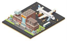 Isometrisches Luft-Logistik-Konzept Lizenzfreies Stockfoto