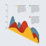 Isometrisches Mehrfarbendiagramm mit Transparenz Lizenzfreie Stockfotografie
