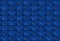 Isometrisches Muster eines kleinen Flugzeuges Lizenzfreies Stockfoto
