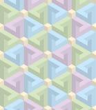 Isometrisches nahtloses Muster Hintergrund der optischen Täuschung 3d Lizenzfreies Stockbild