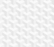 Isometrisches nahtloses Muster Hintergrund der optischen Täuschung 3d Stockfoto