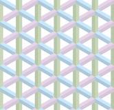 Isometrisches nahtloses Muster Hintergrund der optischen Täuschung 3d Lizenzfreie Stockbilder