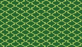 Isometrisches nahtloses Muster Nettozeichnungssummen Hintergrund Stockbild