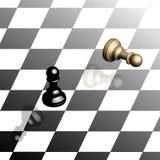 Isometrisches Schachbrett Stockfoto