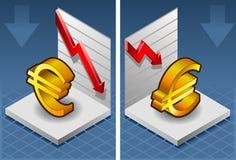 Isometrisches Symbol von Euro Lizenzfreie Stockfotografie