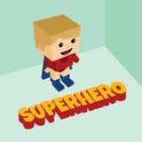 Isometrisches Thema des erstaunlichen Superhelden Stockfotos