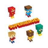 Isometrisches Thema des erstaunlichen Superhelden Lizenzfreies Stockfoto