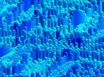 Isometrisches Vektor-Muster Lizenzfreie Stockfotos