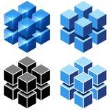Isometrisches Würfelzeichen Stockfotos