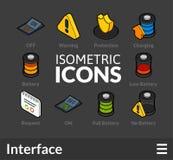 Isometrisk översiktssymbolsuppsättning 32 Royaltyfri Bild