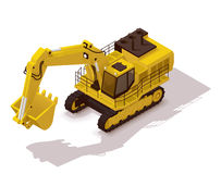 Isometrisk bryta grävskopa för vektor vektor illustrationer