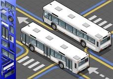 Isometrisk buss i bakre sikt Royaltyfria Bilder