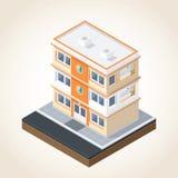 Isometrisk byggnadsuppsättning 1 Arkivbild