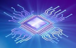 Isometrisk central processor arkivbilder