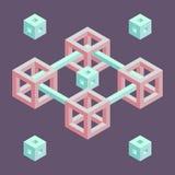 Isometrisk geometrisk form Royaltyfri Bild