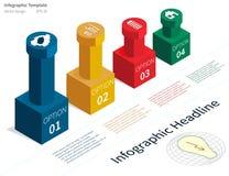 Isometrisk infographic illustration Arkivbilder