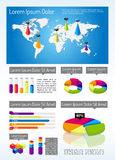 Isometrisk Infographic mall royaltyfri illustrationer