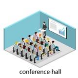 Isometrisk inre av konferenskorridoren Arkivfoton