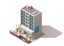 Isometrisk kontorsbyggnad för vektor Royaltyfri Fotografi