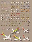 Isometrisk låg poly transportuppsättning för vektor royaltyfri illustrationer