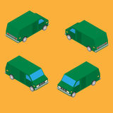 Isometrisk leveransskåpbil Royaltyfria Bilder