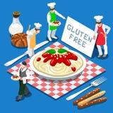 Isometrisk mat för pasta 03 Royaltyfri Illustrationer