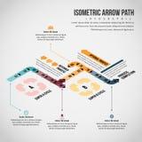 Isometrisk pilbana Infographic Royaltyfria Foton