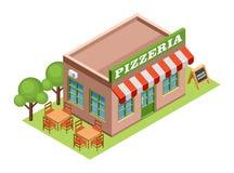 Isometrisk pizzeria Royaltyfri Bild