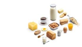 Isometrisk presentation av den sunda frukosten royaltyfria foton