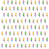 Isometrisk rinnande sprinter Arkivbild