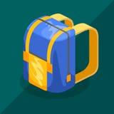 Isometrisk ryggsäck Fotografering för Bildbyråer