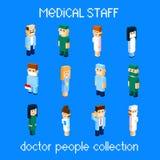 Isometrisk samling 3d för doktor People Group Set för medicinsk personal Arkivfoto