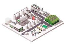 Isometrisk sammansättning för fabrik royaltyfri illustrationer