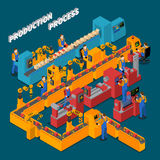 Isometrisk sammansättning för fabrik stock illustrationer