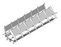 isometrisk sikt för bro Arkivfoto