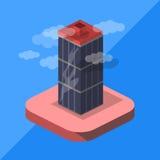 Isometrisk skyskrapa Fotografering för Bildbyråer