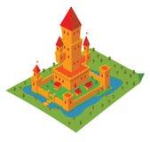Isometrisk slott royaltyfri illustrationer