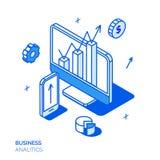 Isometrisk social marknadsföringslinje stildesignbegrepp Arkivfoton