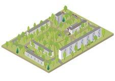 Isometrisk stad Stock Illustrationer