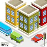 Isometrisk stad Arkivfoton