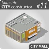 Isometrisk stadskonstruktör - 11 Arkivfoto