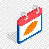 Isometrisk symbol för kalenderhöst Fotografering för Bildbyråer